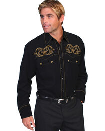 Scully Embroidered Star Scroll Shirt - Big and Tall, , hi-res