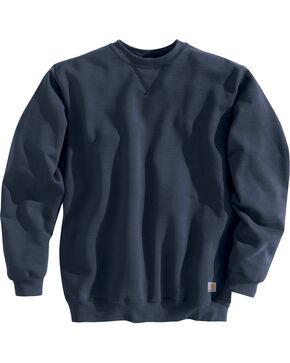 Carhartt Men's Midweight Crewneck Sweater, Navy, hi-res
