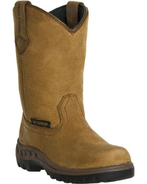 John Deere® Children's Waterproof Wellington Boots, Coffee, hi-res
