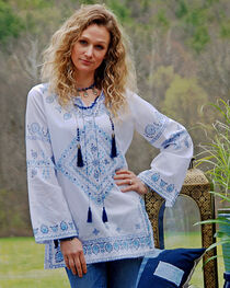 Tasha Polizzi Blue Cowgirl Top , , hi-res