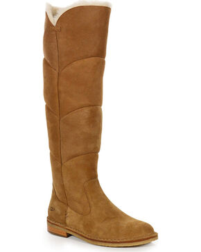 UGG® Women's Samantha Tall Boots, Brown, hi-res