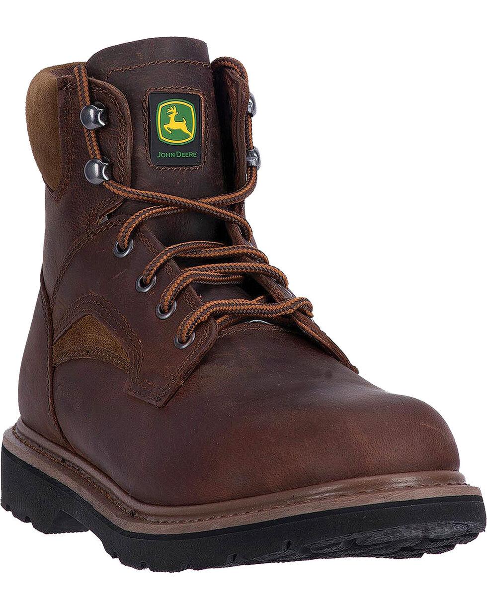 John Deere Men's Steel Toe Work Boots, Brown, hi-res