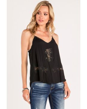 Miss Me Women's Floral Lace Layering Tank, , hi-res