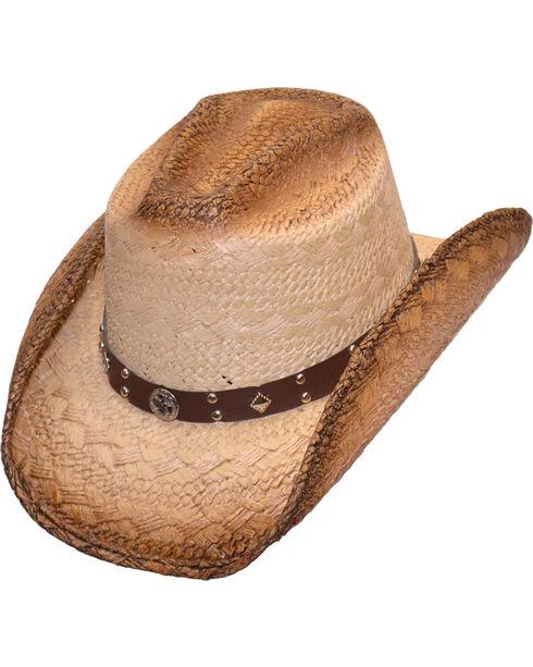 Western Express Women's Brown Straw Hat , Brown, hi-res