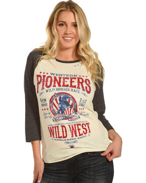 Bohemian Cowgirl Women's Cream Pioneers Of The West Tee , Cream, hi-res