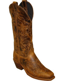 Abilene Women's Cowhide with Fancy Stitching Western Boots - Square Toe, , hi-res