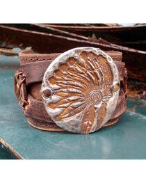 Jewelry Junkie Indian Headdress Cuff Bracelet, , hi-res
