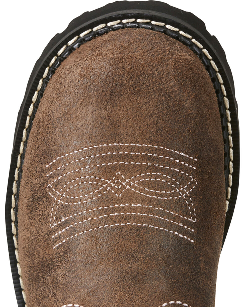Ariat Fatbaby Women's Pink Stitching Cowgirl Boots - Round Toe, Brown, hi-res