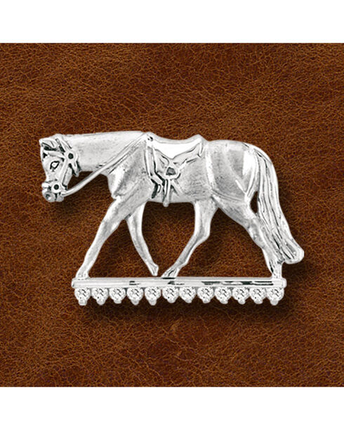 Kelly Herd Sterling Silver English Horse Pendant, Silver, hi-res