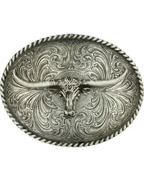 Montana Silversmiths Steerhead Belt Buckle, , hi-res