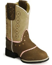 Smoky Mountain Children Girls' Cowgirl Boots - Round Toe , , hi-res