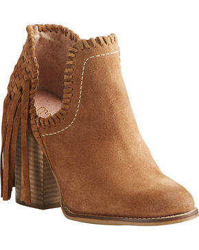 Ariat Women's Unbridled Lily Booties, Suntan, hi-res