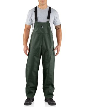 Carhartt Surry Rain Bib Overalls, Green, hi-res