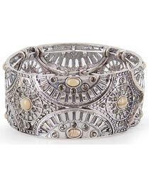 Shyanne® Women's Floral Lasercut Bracelet, , hi-res