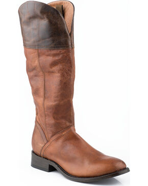 Stetson Women's Abbie Western Boots, Brown, hi-res