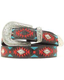 Blazin Roxx Southwest Stitch Diamond Belt, , hi-res