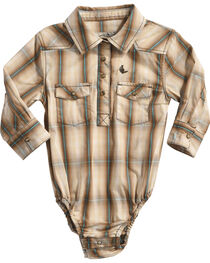 Cody James Infant Boys' Trooper Plaid Woven Onesie, , hi-res