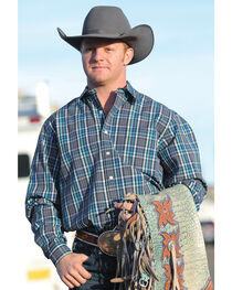 Cinch Men's Plaid Modern Fit Western Shirt, , hi-res