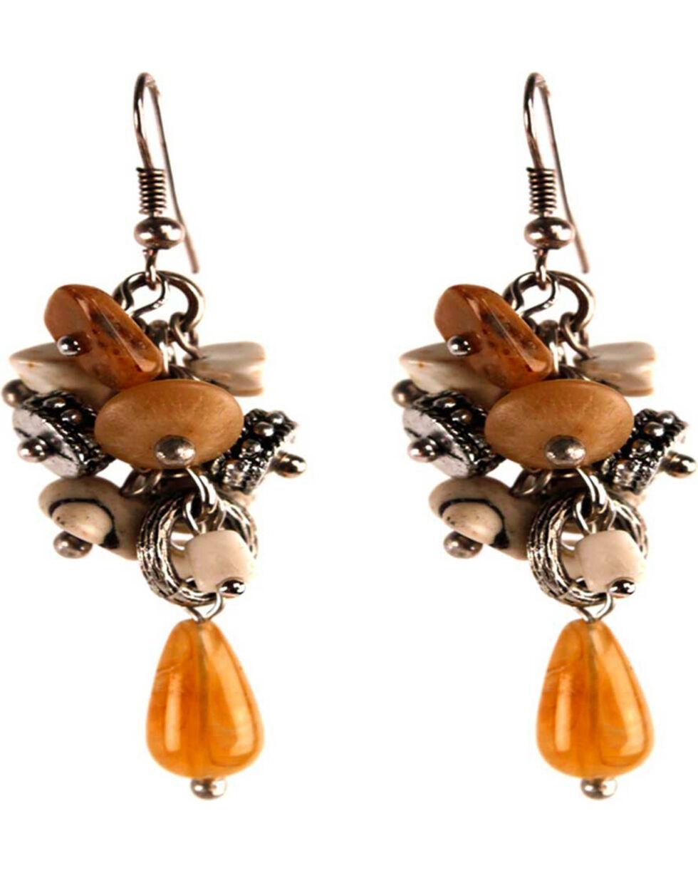 Treska Women's Grape Cluster Earrrings, Tan, hi-res