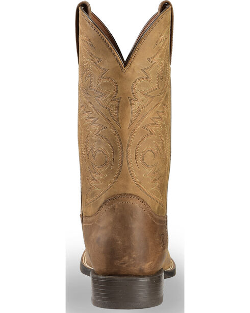 Ariat Men's Sport Herdsman Distressed Brown Western Boots - Square Toe, Brown, hi-res