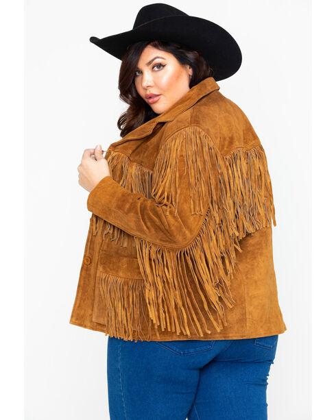 Liberty Wear Women's Suede Fringe Jacket, Brown, hi-res