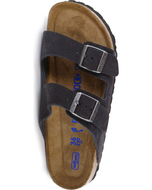 Birkenstock Women's Arizona Soft Suede Sandals, Grey, hi-res
