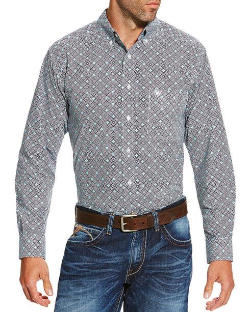 Ariat Men's Slater Long Sleeve Shirt, Navy, hi-res