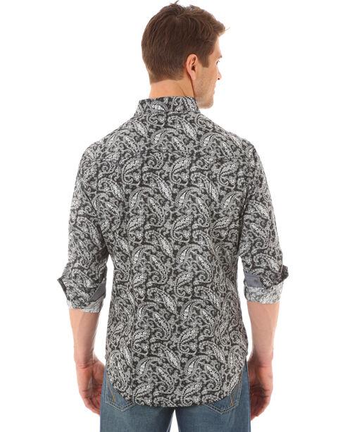 Wrangler Retro Men's Paisley Long Sleeve Shirt - Tall , Black, hi-res