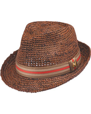 Peter Grimm Men's Kempten Fedora Hat , Brown, hi-res
