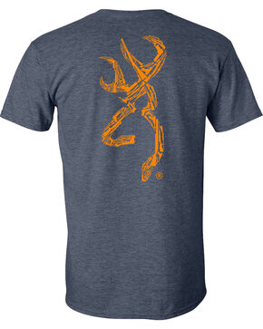 Browning Men's Navy Gun Shapes Buckmark Short Sleeve Tee, Navy, hi-res