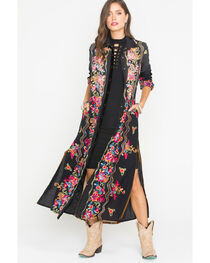 Aratta Women's Black Meadow Of Flowers Maxi Dress , , hi-res