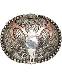 AndWest Congaree Vintage Deer Skull Belt Buckle, , hi-res