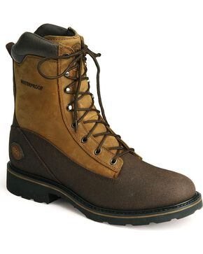 "Justin Men's 8"" Tec Tuff Steel Toe Work Boots, Brown, hi-res"