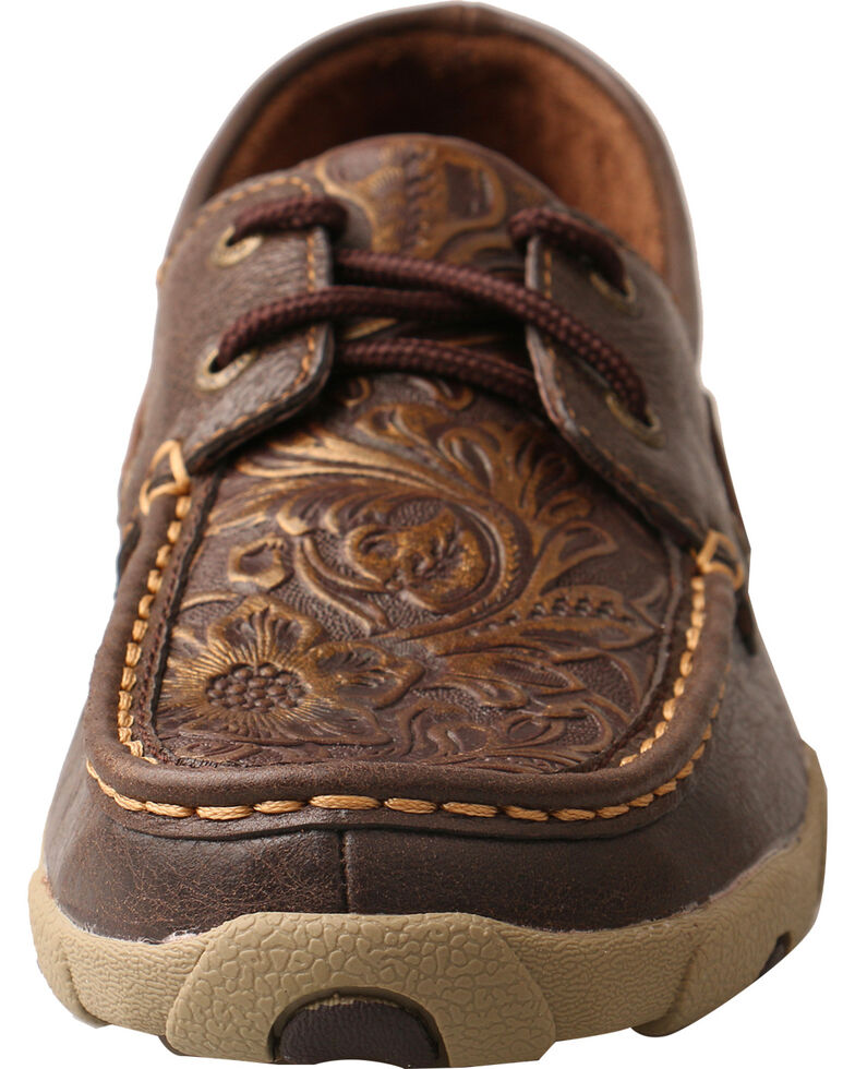 Twisted X Women S Embossed Floral Driving Mocs Moc Toe