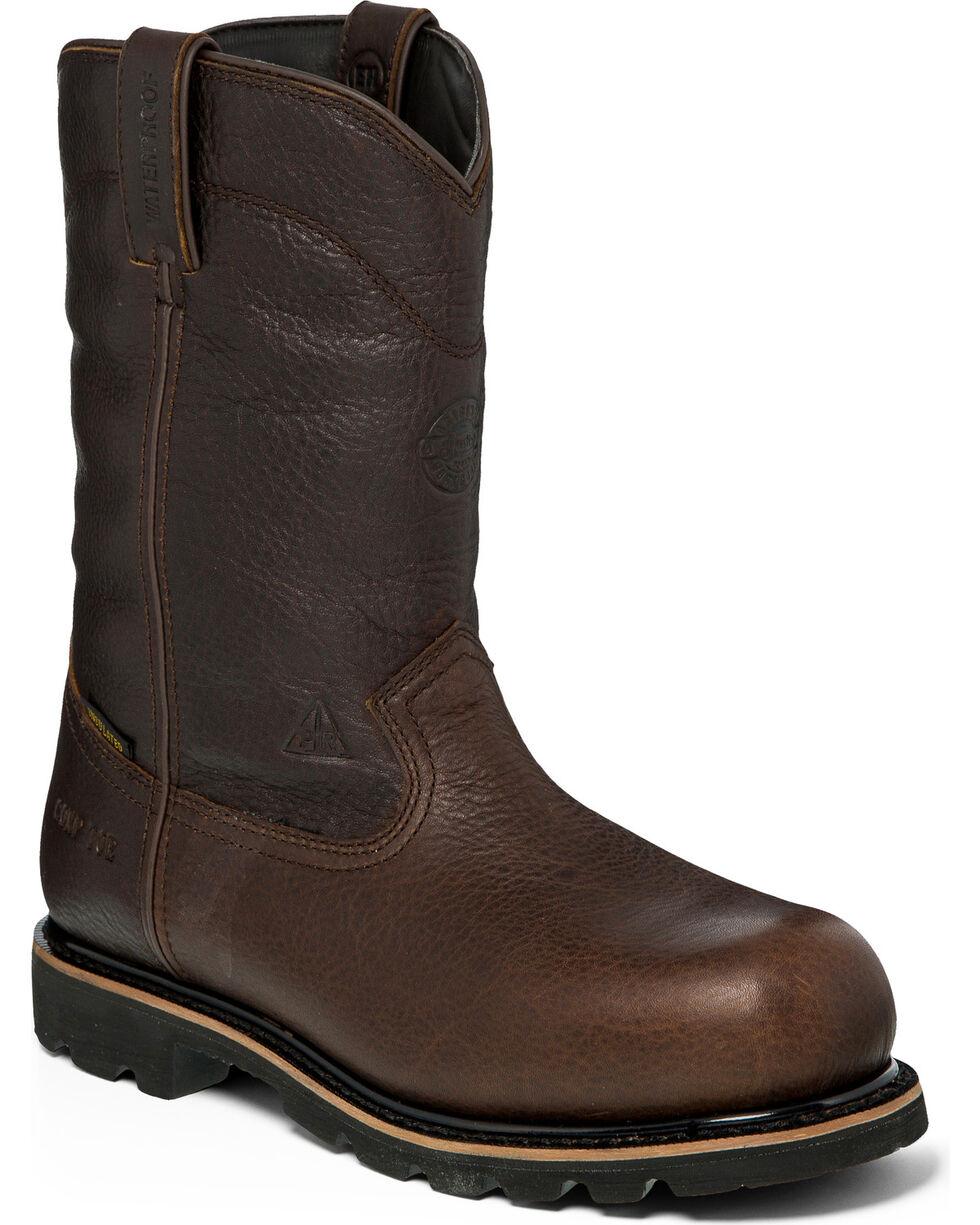 Justin Men's Miner Western Work Boots, Brown, hi-res
