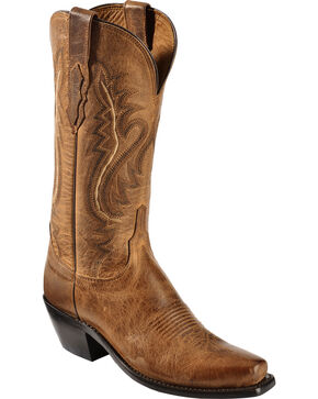 Lucchese Handmade 1883 Women's Cassidy Cowgirl Boots - Snip Toe, Tan, hi-res