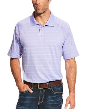 Ariat Men's AriatTEK Heat Series Turquoise AC Polo, Purple, hi-res