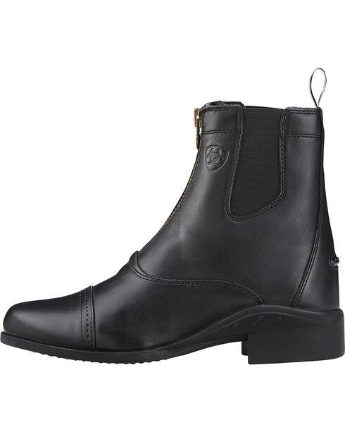 Ariat Women's Heritage III Zip Paddock Boots, Black, hi-res