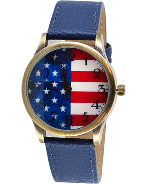 Shyanne® Women's Americana Flag Watch, Red/white/blue, hi-res