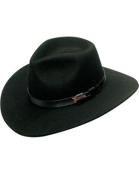 Twister Crushable Indy Hat, Black, hi-res