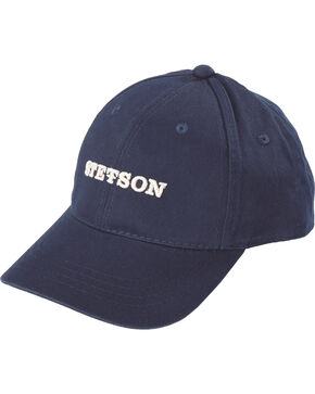 Stetson Men's Canvas Ball Cap, Blue, hi-res