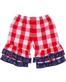 Wrangler Infant/Toddler Girls' Red Check Elastic Waist Pants, , hi-res