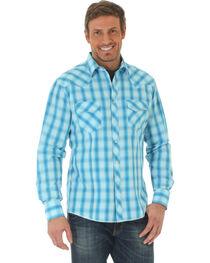 Wrangler Men's Blue Ombre Fashion Western Shirt , , hi-res