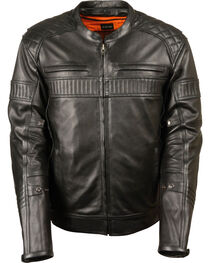 Milwaukee Leather Men's Black Quilted Pattern Scooter Jacket - Big 3X, Black, hi-res