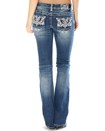 Grace in LA Women's Embellished Pocket Jeans - Boot Cut, , hi-res