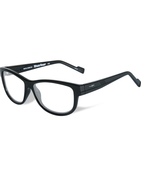 Wiley X Men's WX Marker Gloss Black Glasses , Black, hi-res