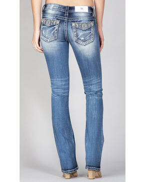 Miss Me Women's Embroidered Pocket Jeans - Boot Cut, Indigo, hi-res