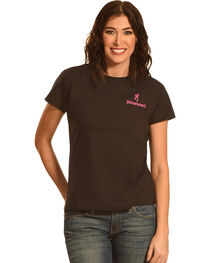 Browning Women's Pink Buckmark T-Shirt, , hi-res