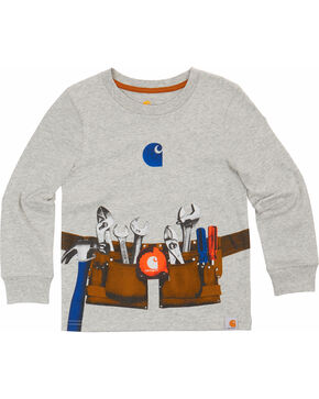 Carhartt Toddler Boy's Toolbelt Long Sleeve T-Shirt, Grey, hi-res