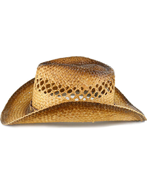Cody James® Men's Studded Straw Hat, Natural, hi-res